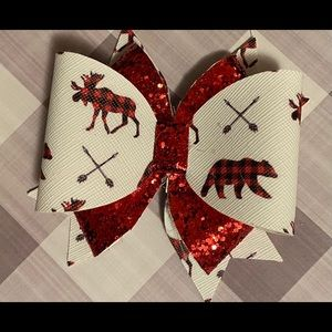 Christmas leather bow